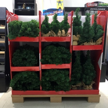 9-displays-filled-with-products-small-Christmas-tree