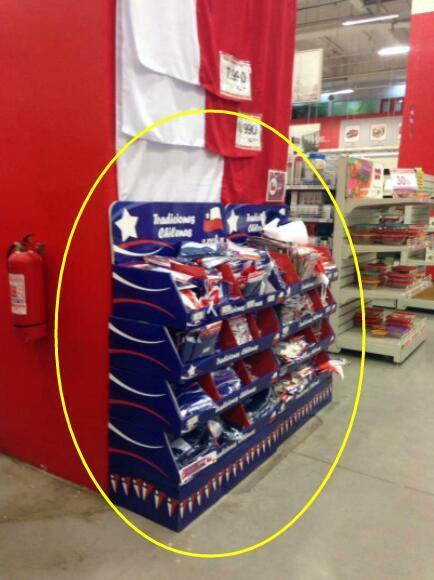 UNI POP / PDQ Displays inside stores for  Flags