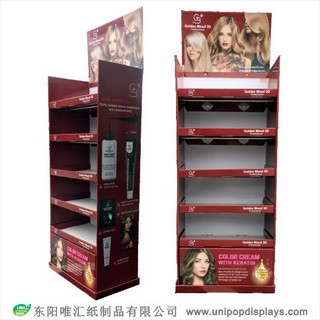 WH18F012-hair-dye-floor-display-made-in-China